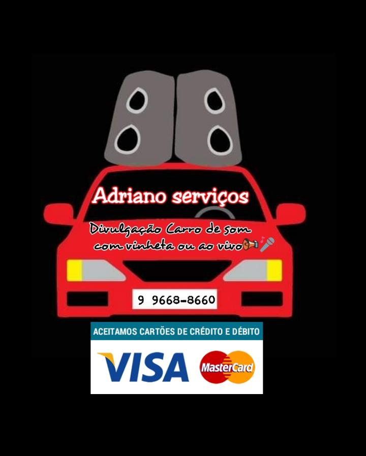 Adriano serviços carro de som