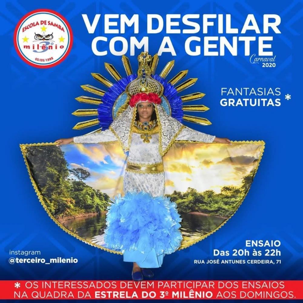 A Estrela do Terceiro Milênio convida você para desfilar no carnaval 2020!